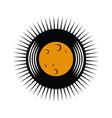vinyl record moon logo vector image vector image