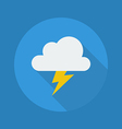 Weather Flat Icon Thunder vector image vector image