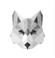 wolf engraved sign illyustrat animals vector image