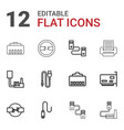 12 connector icons vector image vector image