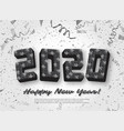 2020 jigsaw puzzle background with many silver vector image