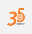 35 th anniversary celebration template design vector image vector image