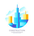abstract construction emblem design vector image vector image