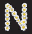 bele rade slova N vector image vector image
