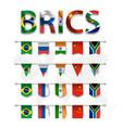 brics association 5 countries vector image