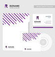 brochure with company card and cd case with r vector image