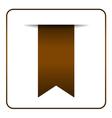 Brown bookmark symbol vector image vector image