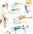 Cartoon Sports Characters Set vector image vector image