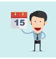 cartoon with calendar in flat design vector image vector image
