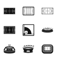 Championship icons set simple style vector image vector image