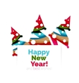 Christmas and New Year geometric banner with text vector image vector image