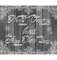 christmas and new years greetings vector image vector image