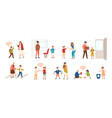 collection of well-behaved kids isolated on white vector image vector image