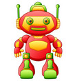 colorful toy cartoon robot isolated on white backg vector image vector image