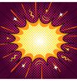 Comic speech bubble word blast action vector image
