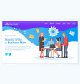 creative business idea teamwork with pc vector image vector image