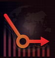 economic recovery l shape after covid-19 crisis vector image vector image