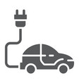 electric car glyph icon ecology car and energy vector image vector image