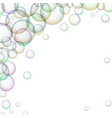 frame with colorful soap bubbles vector image vector image