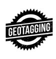geotagging rubber stamp vector image vector image