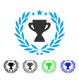 glory emblem flat icon vector image vector image