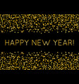 golden luxury happy new year with shining glitter vector image