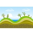 green hills vector image vector image