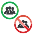 Group permission signs set vector image