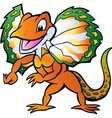 Hand-drawn of an Lizard in colorful splendor vector image vector image