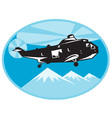 helicopter search and rescue vector image vector image