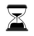hourglass antique clock vector image vector image