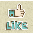 I Like thumb up icon vector image
