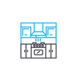 kitchen linear icon concept kitchen line vector image vector image