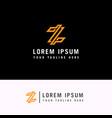 letter z modern line logo design element vector image