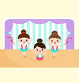 little girls in a ballet performance vector image