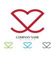 love logo icon designtemplate vector image vector image
