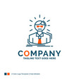 manager employee doctor person business man logo vector image vector image