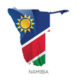 map namibia with flag vector image vector image