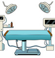 medical surgical room pop art vector image