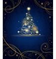 Modern golden Christmas tree vector image vector image