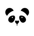 panda bear template vector image vector image