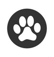 paw print sign vector image