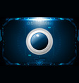 realistic circle blue button on abstract vector image vector image
