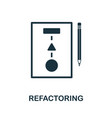 refactoring icon symbol creative sign from agile vector image vector image