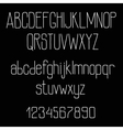 Retro chalk font alphabet on blackboard vector image