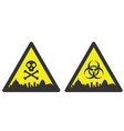 rio de janeiro danger emergency biological hazard vector image vector image