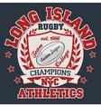 Rugby T-shirt Printing Design vector image vector image