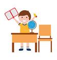 school boy cartoon vector image