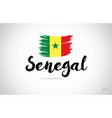 senegal country flag concept with grunge design vector image