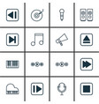 Set of 16 music icons includes microphone octave